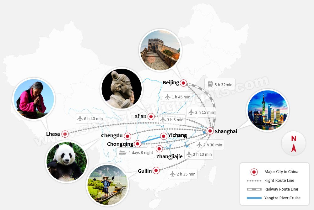 China Tours Map