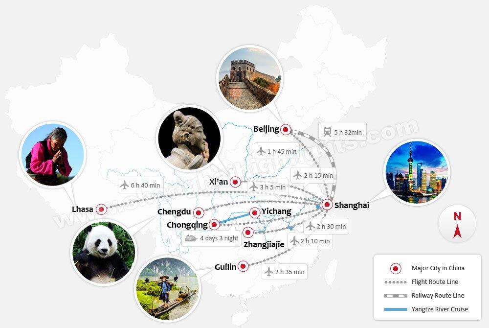 China Tours Map