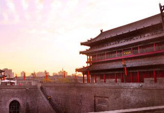 Xian City Wall Sunset