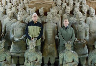 Tourists with Terracotta Warriors
