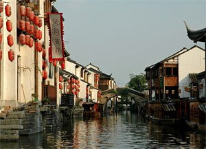 the Grand Canal in Suzhou