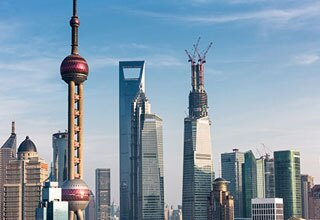 Oriental Pearl Tv Tower Touch The Clouds Above Shanghai