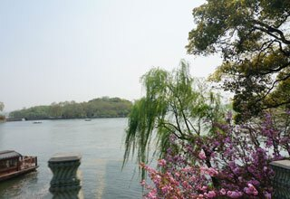 West Lake with Peach Blossom