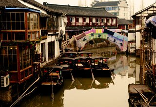 Zhujiajiao Water Town near Shanghai and Seven Treasure Town